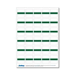 Adhesive labels for inset box 30 in number, green (1 sheet)