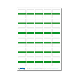 Adhesive labels for inset box 30 in number, light green (1 sheet)